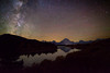 Stars over Tetons at Oxbow Bend, Grand Teton National Park