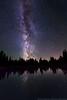 Milky Way over alpine lake