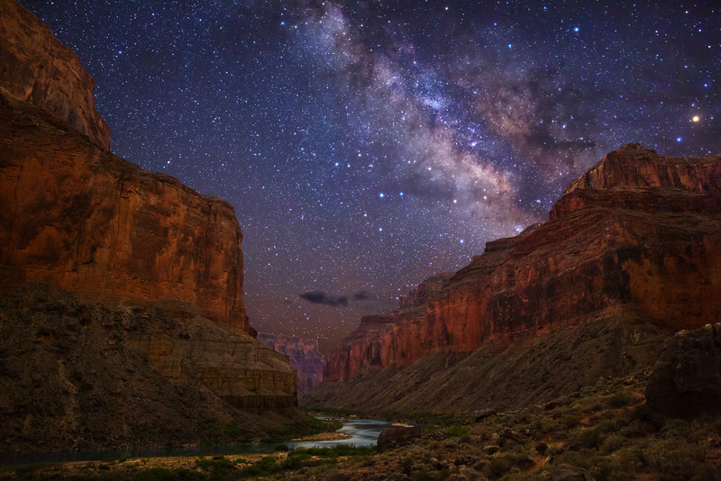 Milky Way stars over Grand Canyon