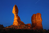 Balanced Rock - lighted night exposure - Arches National Park