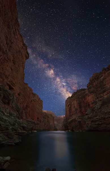 Milky Way over Grand Canyon and Colorado River