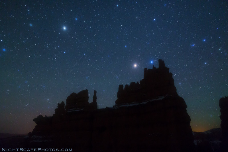 Stars over The Fortress - Bryce Canyon
