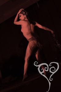Mynx d'Meanor  Midnight at Tiki Oasis - Femme Fatale Follies - Burlesque show in San Diego, CA