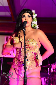 Coco Lectric, performing at Tiki Oasis, 2012