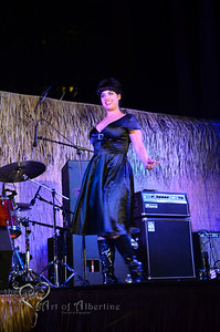 Retro Diva Fashion Show on the main stage at Tiki Oasis on Friday night. Coco Lectric