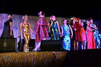 Retro Diva Fashion Show on the main stage at Tiki Oasis on Friday night.
