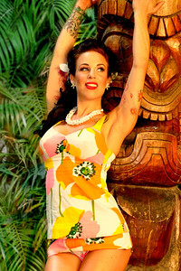 Meghan Mayhem Tiki Oasis Pin Up