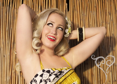 Shelby Loveland Tiki Oasis Pin Up