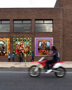 Legacy © 2018 City of Philadelphia Mural Arts Program / Walé Oyéjidé, Lucien Blackwell Library, 125 South 52nd Street. Photo by Steve Weinik.