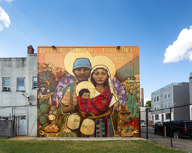 Families Belong Together © 2018 City of Philadelphia Mural Arts Program / Ian Pierce (Artes Ekeko), 2536 North Front Street. Photo by Steve Weinik.