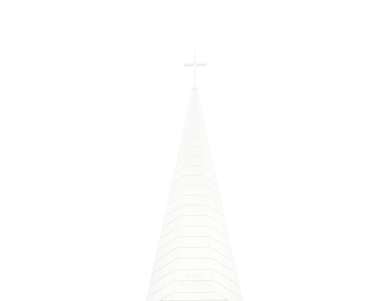 1/26/12:  White On White.  This afternoon it got really foggy.  There is a church right across from our neighborhood.  You could hardly see the steeple from the road.  I've photographed this steeple many times and figured this would make a cool minimalistic addition to my collection.