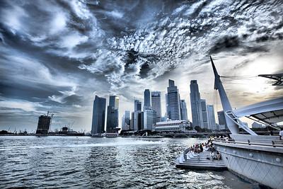 Singapore Harbour - speedboat races