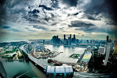 Singapore Flyer City view
