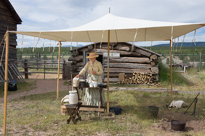 Setting up for butter-churning