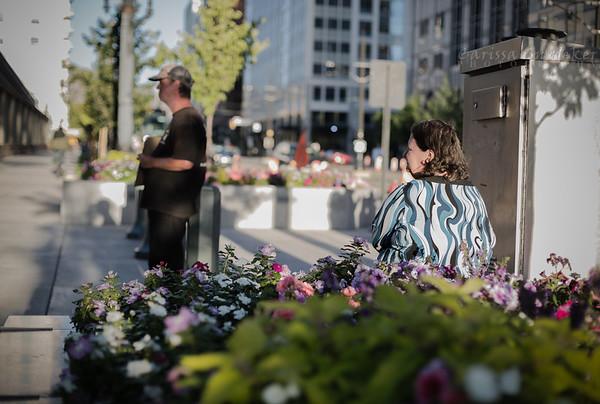 Waiting. Temple Square, Salt Lake City