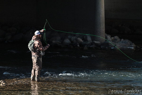 Fisherman on the Truckee
