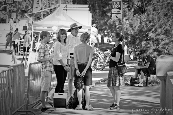 Spectators at the Tour de Nez, July 28. 2013. Wingfield Park. Reno, NV