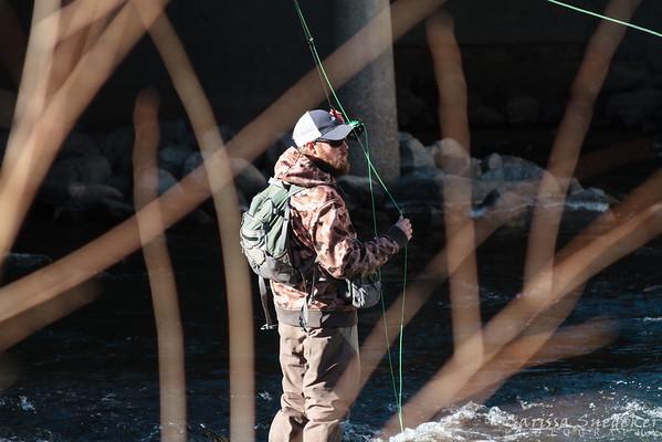 Fisherman on the Truckee