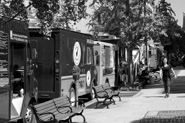 Day 3 - May 17, 2013, Washington, D.C., Lunch wagons outside the Marriott at Metro Center