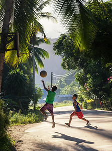 Basketball was introduced to the Philippines during the American colonial period (1898-1946) and Filipinos are crazy about it. I took this image in Port Barton, a chilled out little town on Palawan Island on morning.