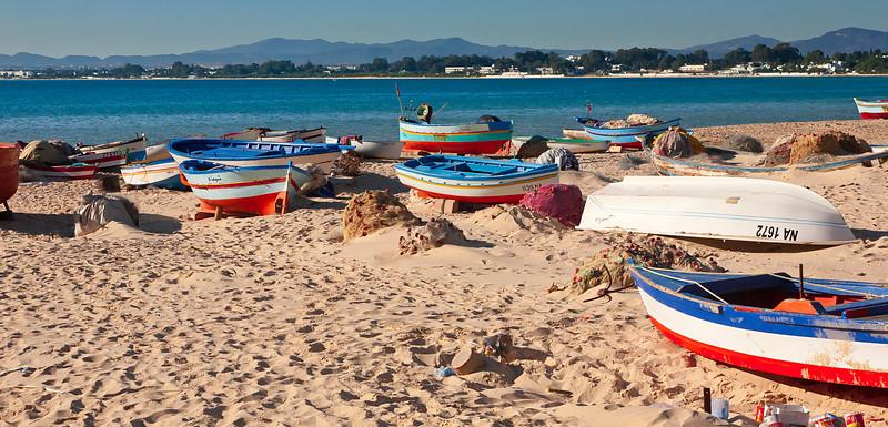 Boats in Hammamet - Tunisia