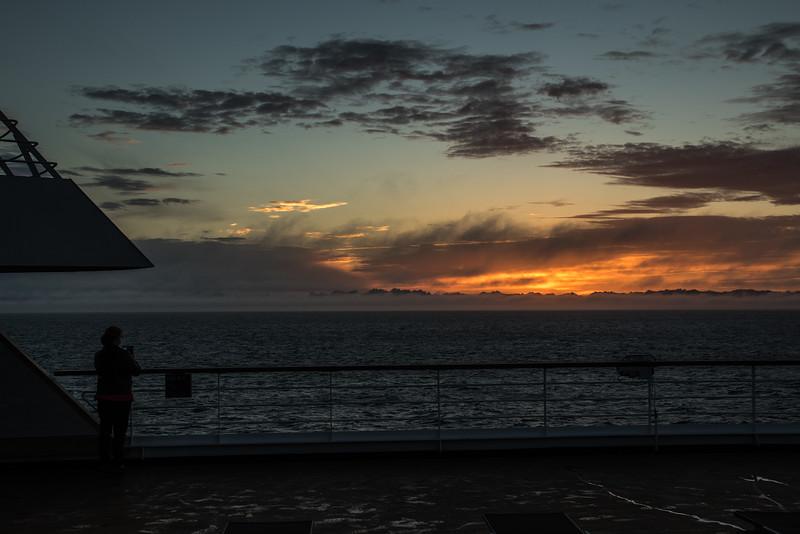 Catching the sun rising.