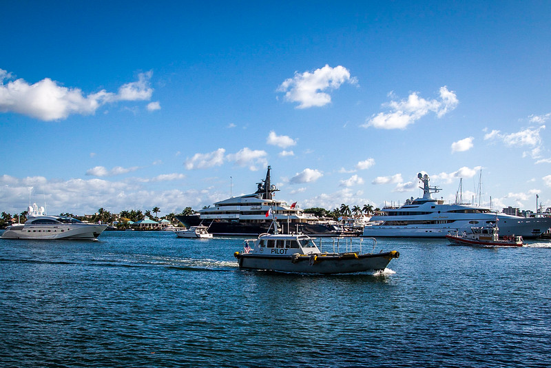 Yatch's in the harbor Fort Lauderdale