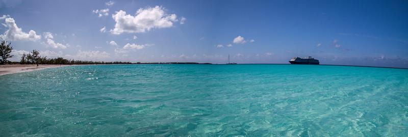 Panorama of Half Moon Cay