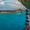 Pulling into Aruba - Caribbean Cruise