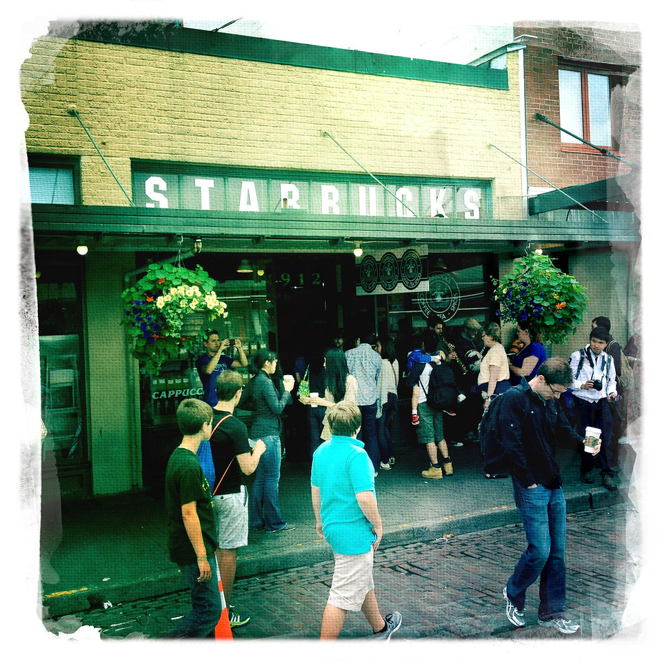 The very first Starbucks - Pike's Market, Seattle