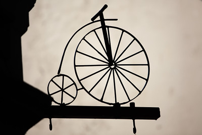 Iron Penny Farthing sign