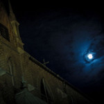 Moon over Church