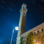 SuperMoon over the Waterbury CT train station