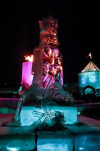 Ice sculpture - King Boreas