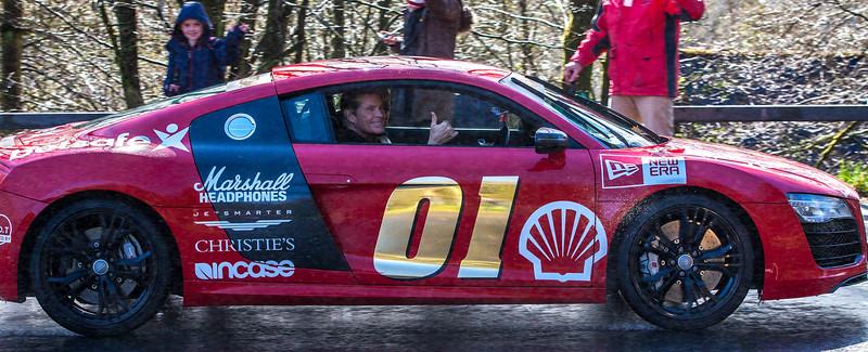 Gumball3000 Rally through West Linton, Scotland