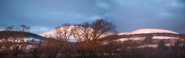 Pentland Hills as seen from University of Edinburgh, Bush Campus