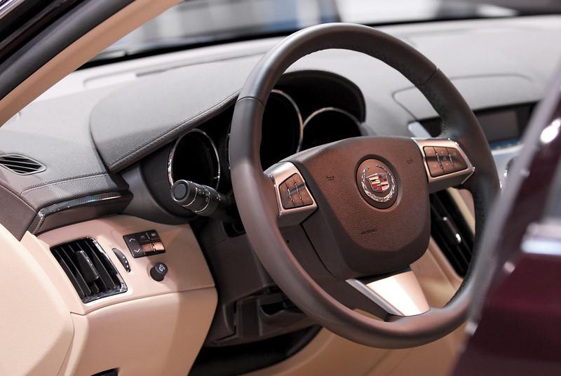 Cadillac CTS interior.