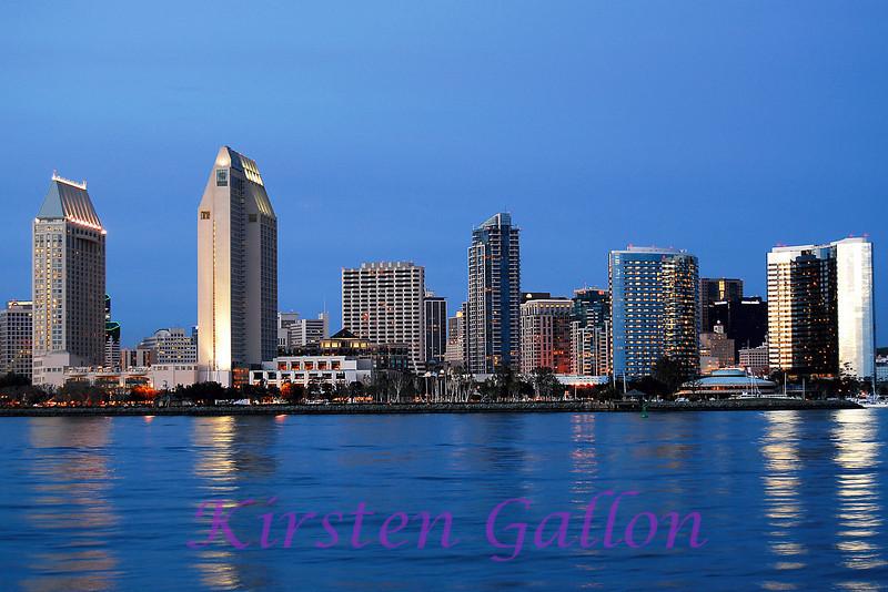 Downtown San Diego skyline.
