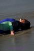 A kid enjoying his day at La Jolla Shores Beach.