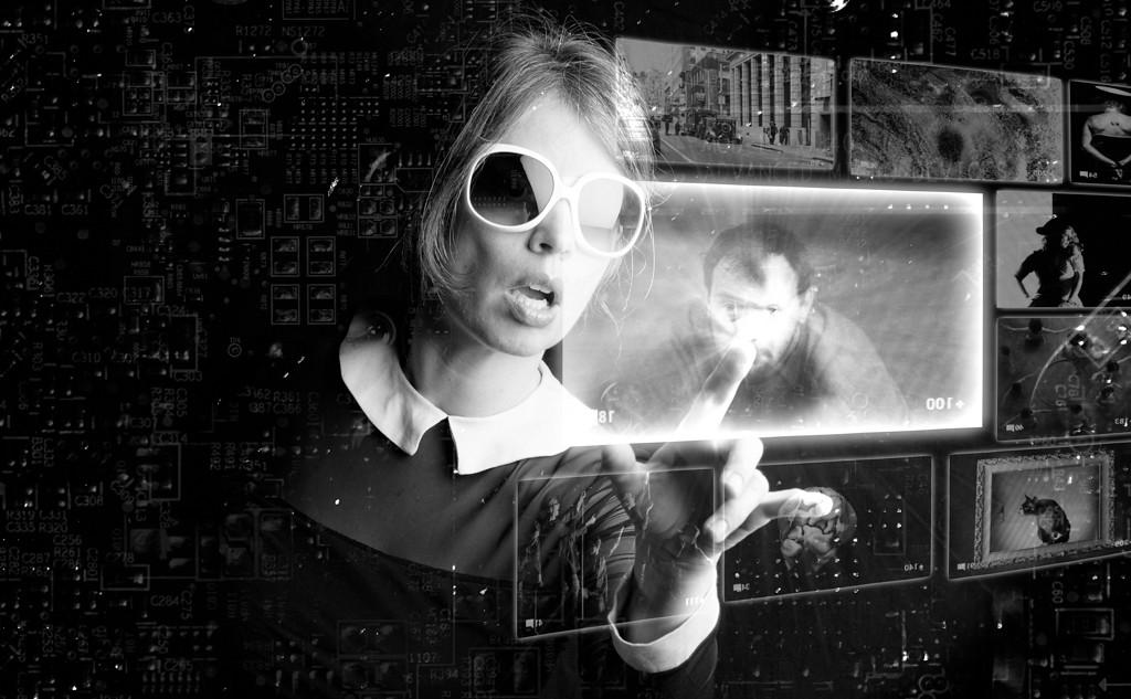 self portrait; display; tech; technology; future; futuristic