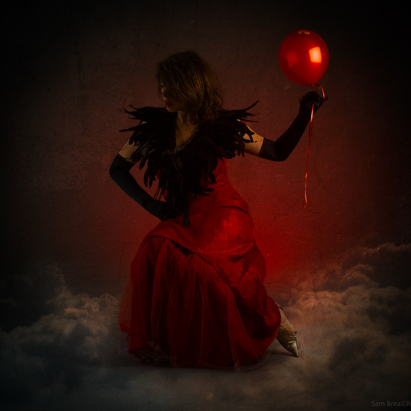 """One Red Balloon"" copyright SAM BREACH 2015, all rights reserved"