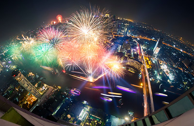 Bangkok fireworks