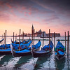 Gondolas at dawn