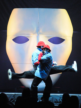 Collegian Photo By: Jimmy Dever Jabbawockeez opens for New Kids on the BlockTuesday night in the Bryce Jordan Center