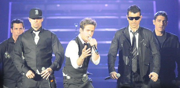 Collegian Photo By: Jimmy Dever New Kids on the Block performed Tuesday night in the Bryce Jordan Center.