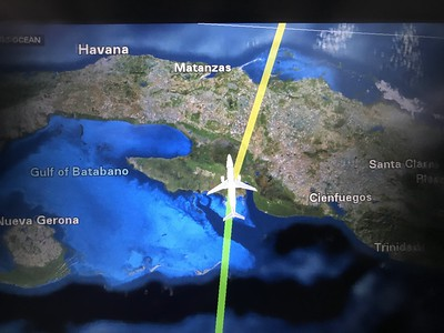 Cuba overfly