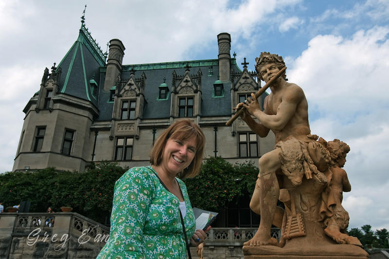 Angie and Pan at the Biltmore in Asheville, NC.