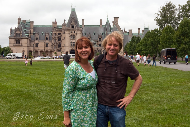 Angie and me at the Biltmore in Asheville, NC, August, 2010.