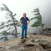 "Me on top of Chimney Rock. It was just too ""smokey"" to see anything."
