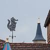 Weather vane on top of Peter Pan's Flight